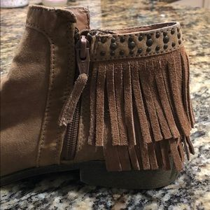 Mossimo Supply Co. Shoes - Mossimo fringe ankle zip boots